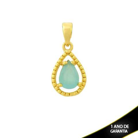 Imagem de Pingente Trabalhado Gota de Pedra Azul Claro - 0304689