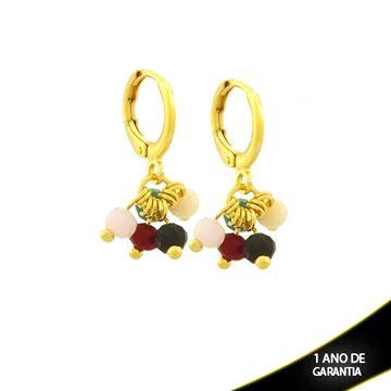 Imagem de Brinco de Argola com Pedras Coloridas - 0212307