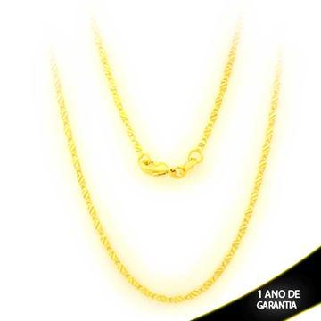 Imagem de Corrente Masculina Malha Diamantada 45cm - 0403857