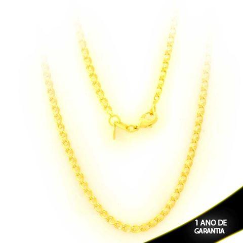 Imagem de Corrente Masculina Elos Diamantados 45cm - 0403858