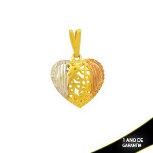 Imagem de Pingente de Coração Diamantado com Aplique de Ródio Rosê - 0304710