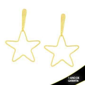 Imagem de Brinco Grande de Estrela Lisa Vazada - 0212367
