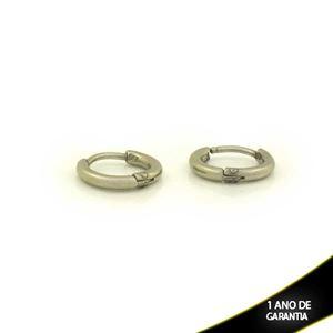 Imagem de Brinco Aço Inox Argola Pequena Lisa 2mm 1,1cm - 0212037