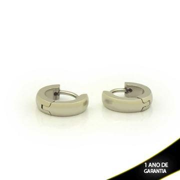 Imagem de Brinco Aço Inox Argola Pequena Abaulada 4mm 0,9cm - 0212044