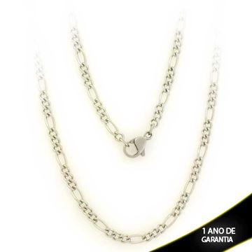 Imagem de Corrente Aço Inox Masculina Diamantada 3x1 3mm 60cm - 0403692