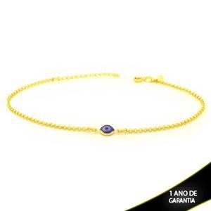 Imagem de Tornozeleira Olho Grego Azul Escuro 23cm Mais 4cm de Extensor - 0600662