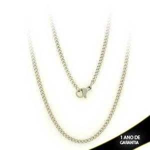 Imagem de Corrente Aço Inox Masculina Fina Diamantada 2mm 60cm - 0403689