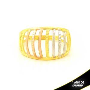 Imagem de Anel Vazado Diamantado com Aplique De Ródio Rosê - 0104971