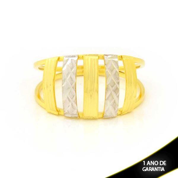 Imagem de Anel Vazado Diamantado com Aplique De Ródio Rosê - 0104973
