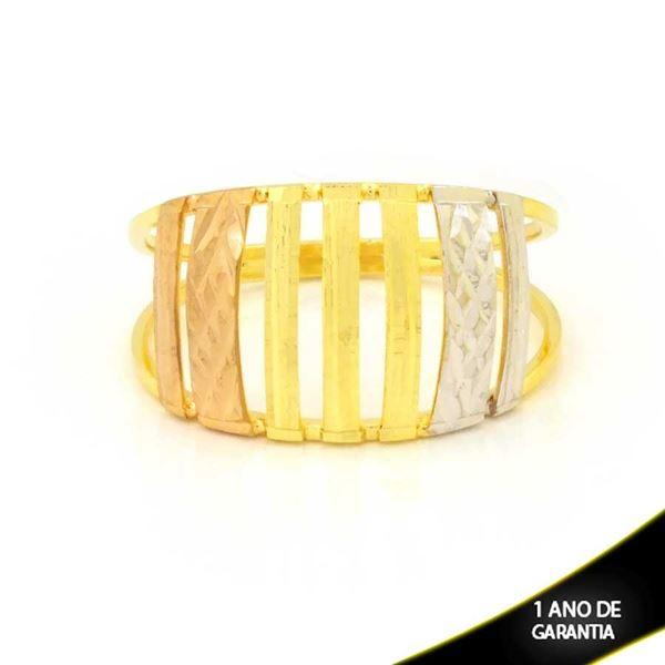 Imagem de Anel Vazado Diamantado com Aplique De Ródio Rosê - 0104972