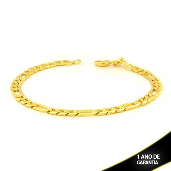 Imagem de Pulseira Masculina 3x1 Diamantada 6mm 22cm - 0501879