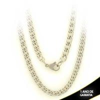 Imagem de Corrente Aço Inox Masculina Diamantada Elos Duplos 5mm 70cm - 0403685