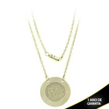 Imagem de Corrente Aço Inox Medalha São Bento 45cm - 0401975