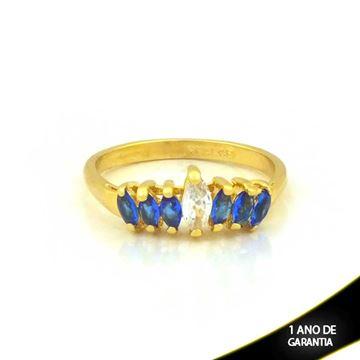 Imagem de Anel com Pedras de Zircônias Azul - 0104650