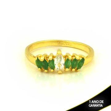 Imagem de Anel com Pedras de Zircônias Verde Escuro - 0104650