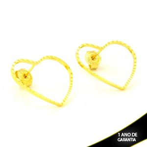 Imagem de Brinco Coração Vazado Diamantado 1,8cm - 0212517