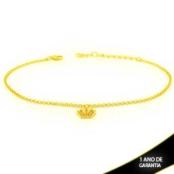 Imagem de Tornozeleira com Coroa com Zircônias 22cm Mais 4,5cm de Extensor - 0600707