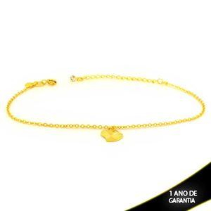 Imagem de Tornozeleira Strass com Coração Diamantado 20cm Mais 5,5cm de Extensor - 0600732