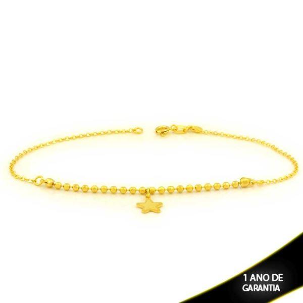 Imagem de Tornozeleira de Bolinhas Diamantadas com Estrela 24cm - 0600727