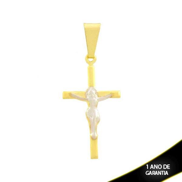 Imagem de Pingente de Cruz com Corpo de Cristo com Aplique de Ródio - 0304736