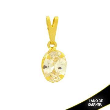 Imagem de Pingente Oval de Pedra de Zircônia - 0304749