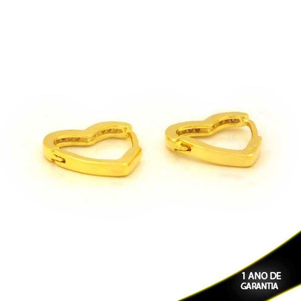 Imagem de Brinco Argola de Coração Liso 2mm 1,3cm - 0212600