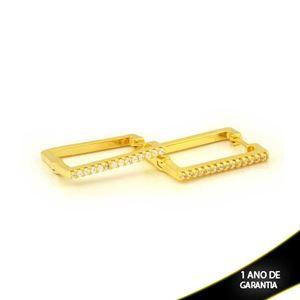 Imagem de Brinco Argola Quadrada com Zircônias 2mm 1,7cm - 0212379