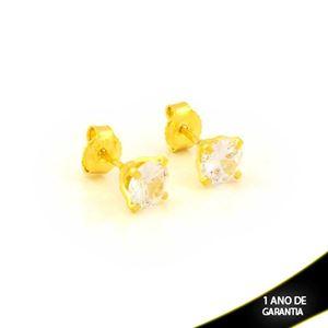 Imagem de Brinco de Pedra de Zircônia Redonda 6mm - 0212457