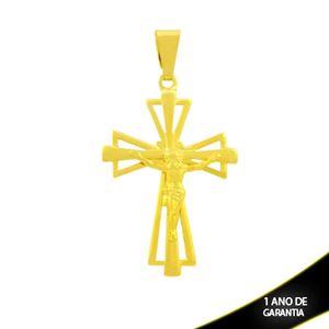 Imagem de Pingente de Cruz Grande Vazada com Corpo de Cristo - 0304617