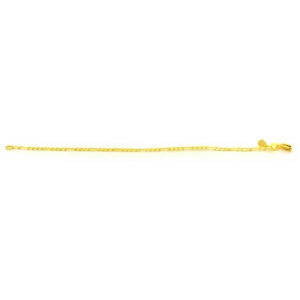 Imagem de Pulseira Infantil 3x1 Fina com Elos Diamantados 2,5mm 15cm - 0504086