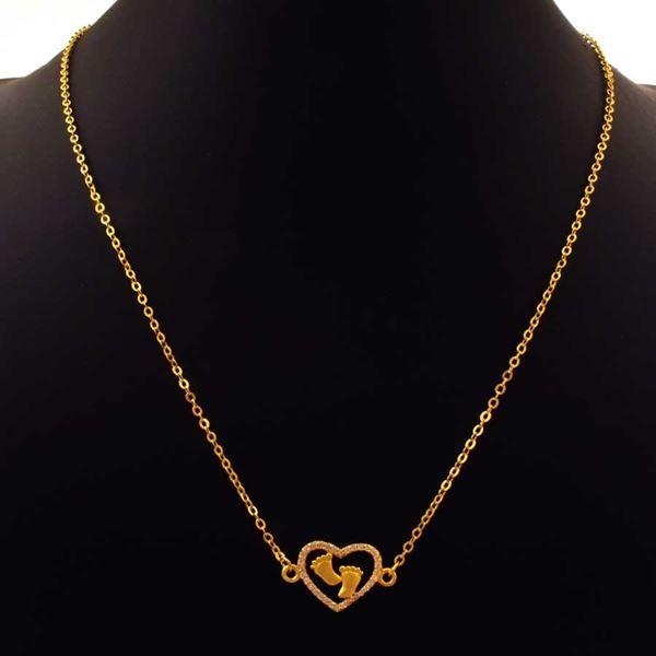Imagem de Corrente Feminina Coração de Zircônias com Pezinhos 45cm - 0402945