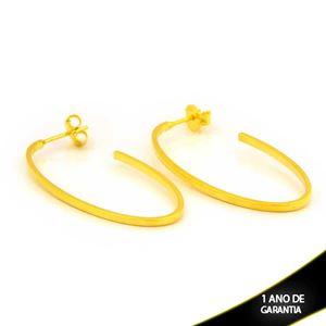 Imagem de Brinco Argola Oval Lisa 1,5mm 4cm - 0212483