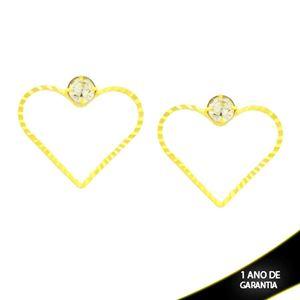 Imagem de Brinco de Coração Diamantado com Strass - 0212645