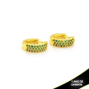 Imagem de Brinco Argola com Zircônias Verdes 4mm 1,2cm - 0212714