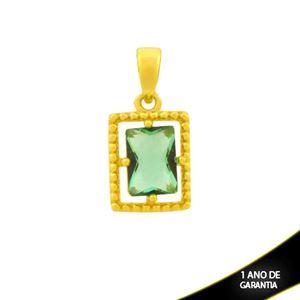 Imagem de Pingente de Retângulo Trabalhado de Pedra Verde - 0304761