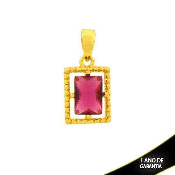 Imagem de Pingente de Retângulo Trabalhado de Pedra Pink - 0304761
