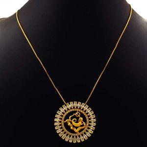 Imagem de Corrente Feminina Mandala Com Zircônias E Símbolo De Aquário 40cm Mais 5cm De Extensor - 0402793