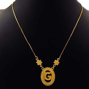 """Imagem de Corrente Feminina Letra """"G"""" 43cm Mais 5cm De Extensor - 0402692"""