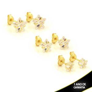 Imagem de Brinco Trio de Estrelas de Zircônias - 0212807