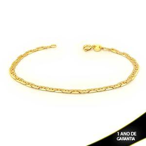Imagem de Pulseira Masculina Malha Diamantada Trabalhada 3,5mm 21cm - 0503698