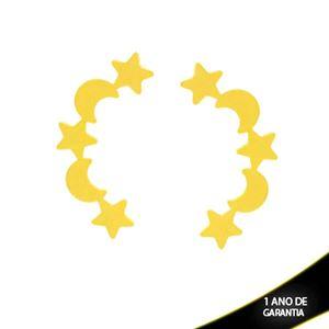 Imagem de Brinco Luas e Estrelas Lisas 2,7cm - 0212207